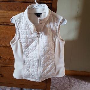 Ivory Vest. EUC, white/ivory